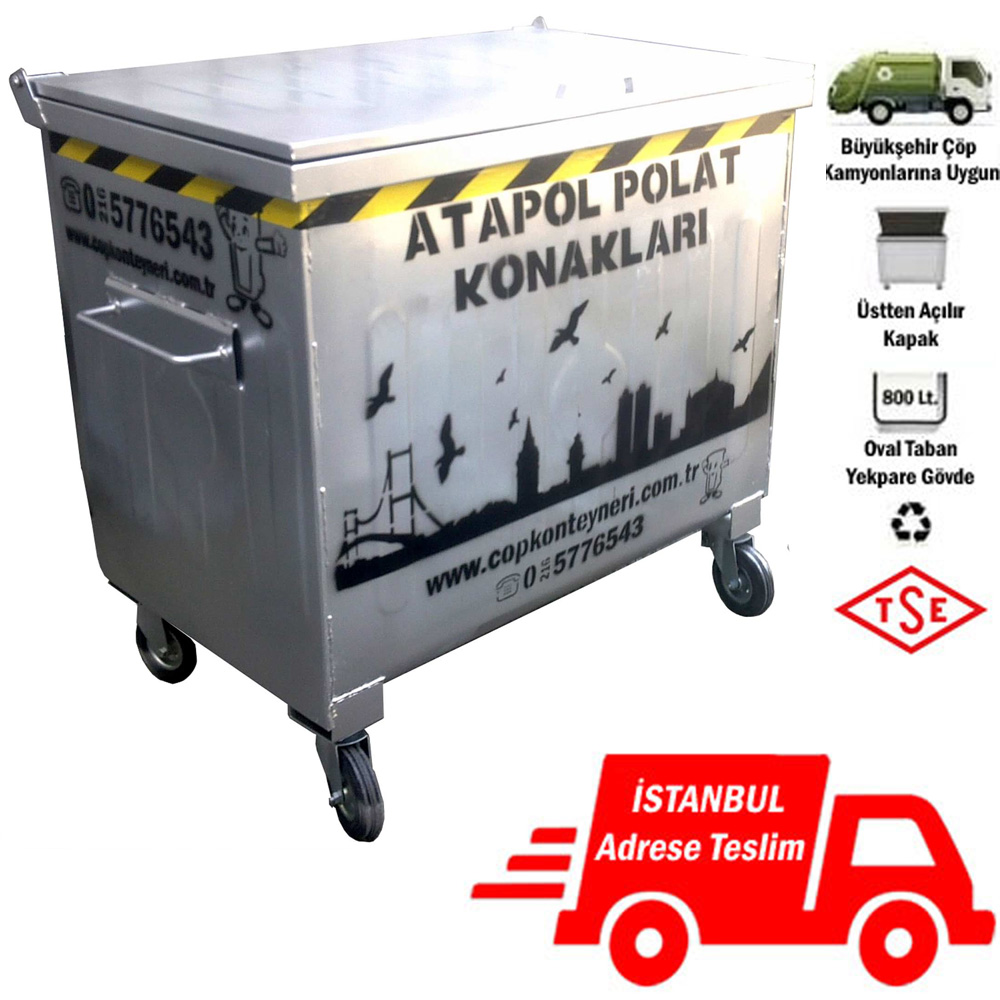 Metal Waste Container 800 lt.