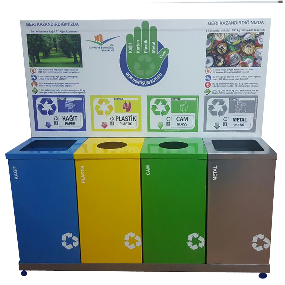 Recycle bin 4 compartments 400BS